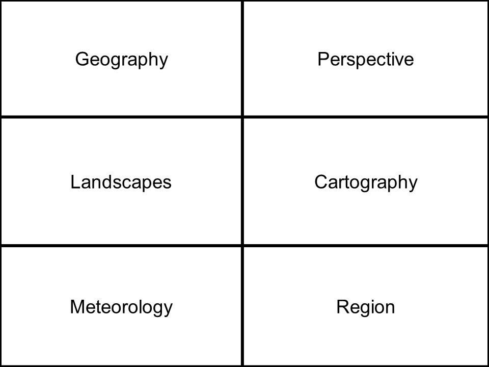 GeographyPerspective LandscapesCartography MeteorologyRegion