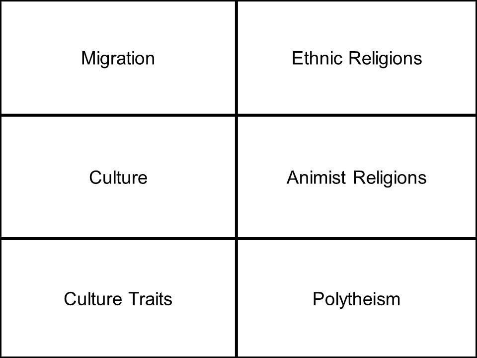 MigrationEthnic Religions CultureAnimist Religions Culture TraitsPolytheism