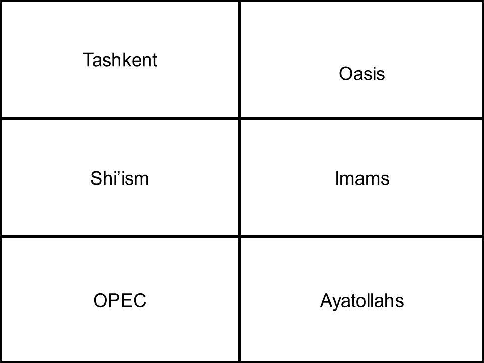 Tashkent Oasis Shi'ismImams OPECAyatollahs