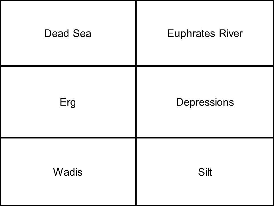 Dead SeaEuphrates River ErgDepressions WadisSilt