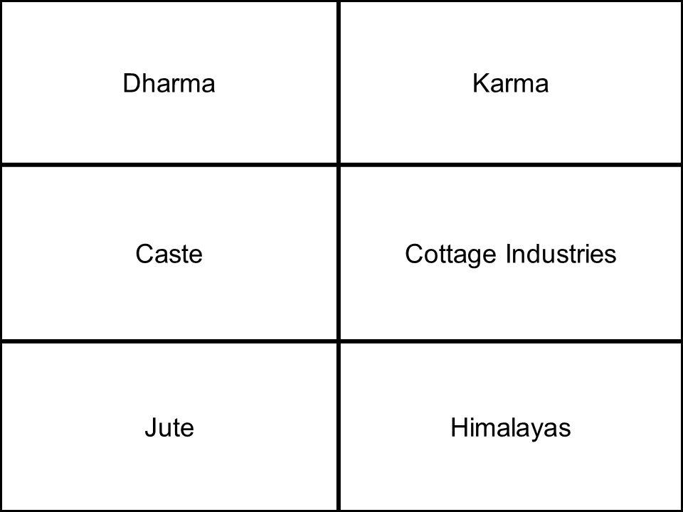 DharmaKarma CasteCottage Industries JuteHimalayas