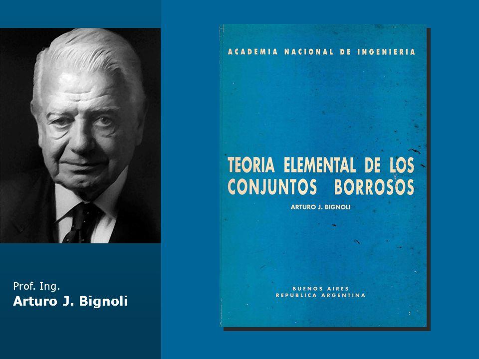 Prof. Ing. Arturo J. Bignoli Complejo Ferrovial Zárate - Brazo Largo