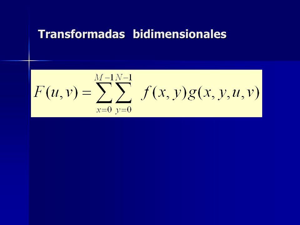 Transformadas bidimensionales