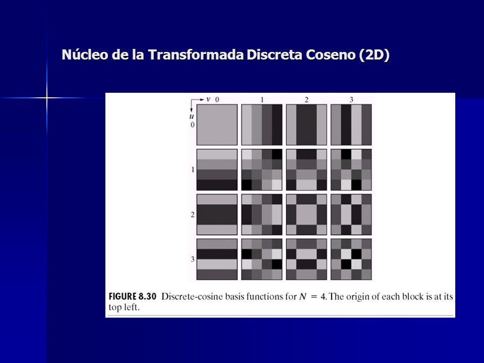Núcleo de la Transformada Discreta Coseno (2D)