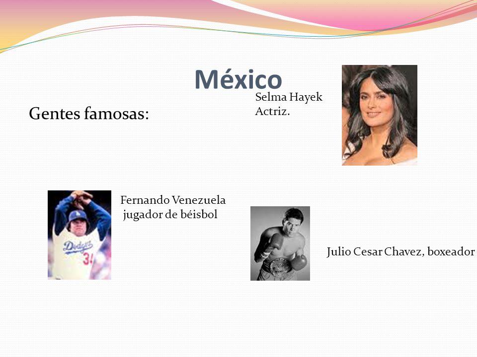 México Gentes famosas: Selma Hayek Actriz.