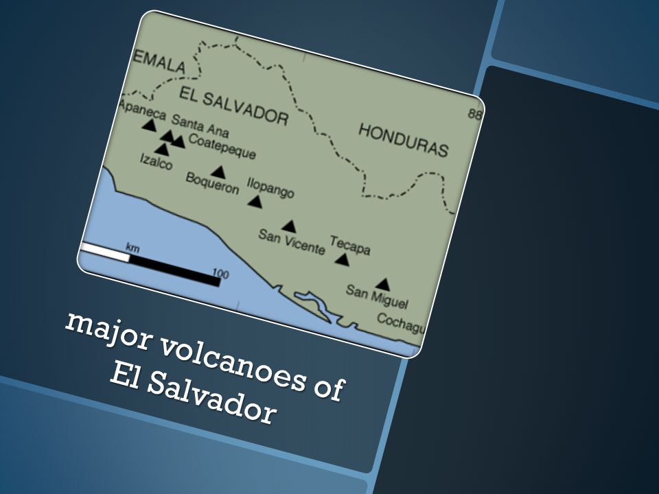 major volcanoes of El Salvador