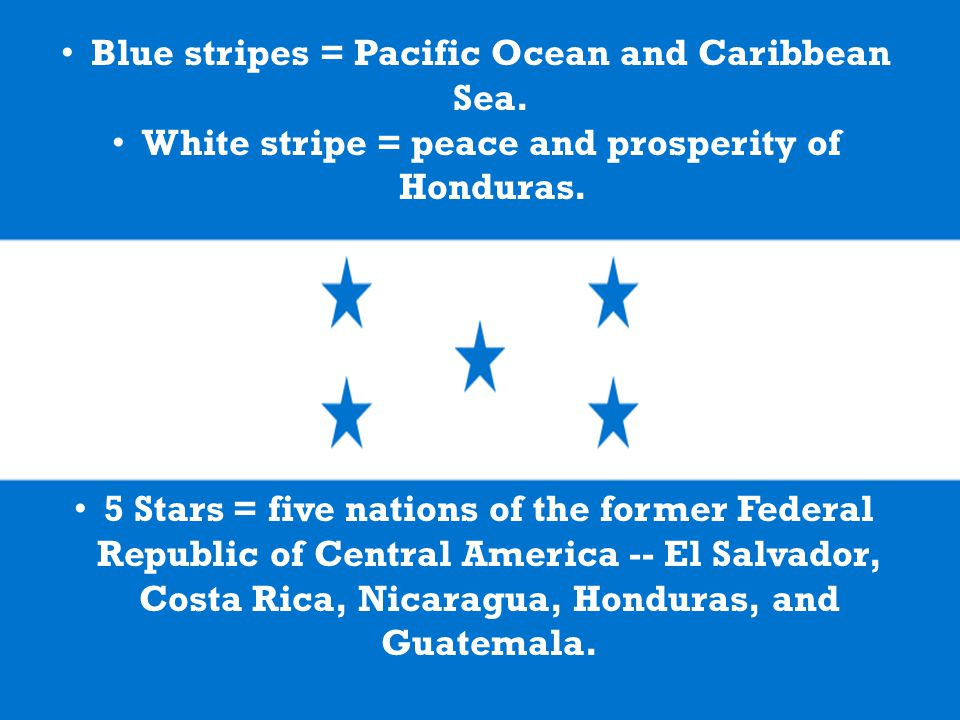 5 Stars = five nations of the former Federal Republic of Central America -- El Salvador, Costa Rica, Nicaragua, Honduras, and Guatemala.