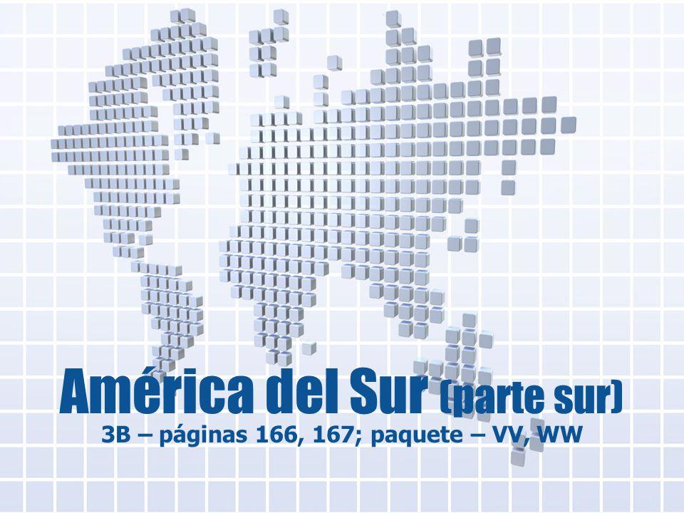 América del Sur (parte sur) 3B – páginas 166, 167; paquete – VV, WW