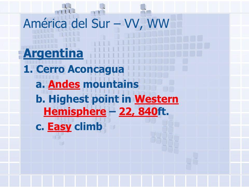 América del Sur – VV, WW Argentina 1. Cerro Aconcagua a.