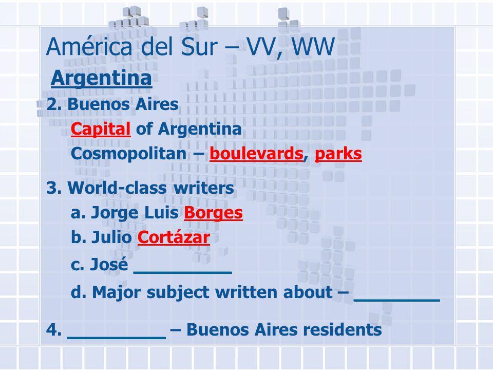 América del Sur – VV, WW Argentina 2.