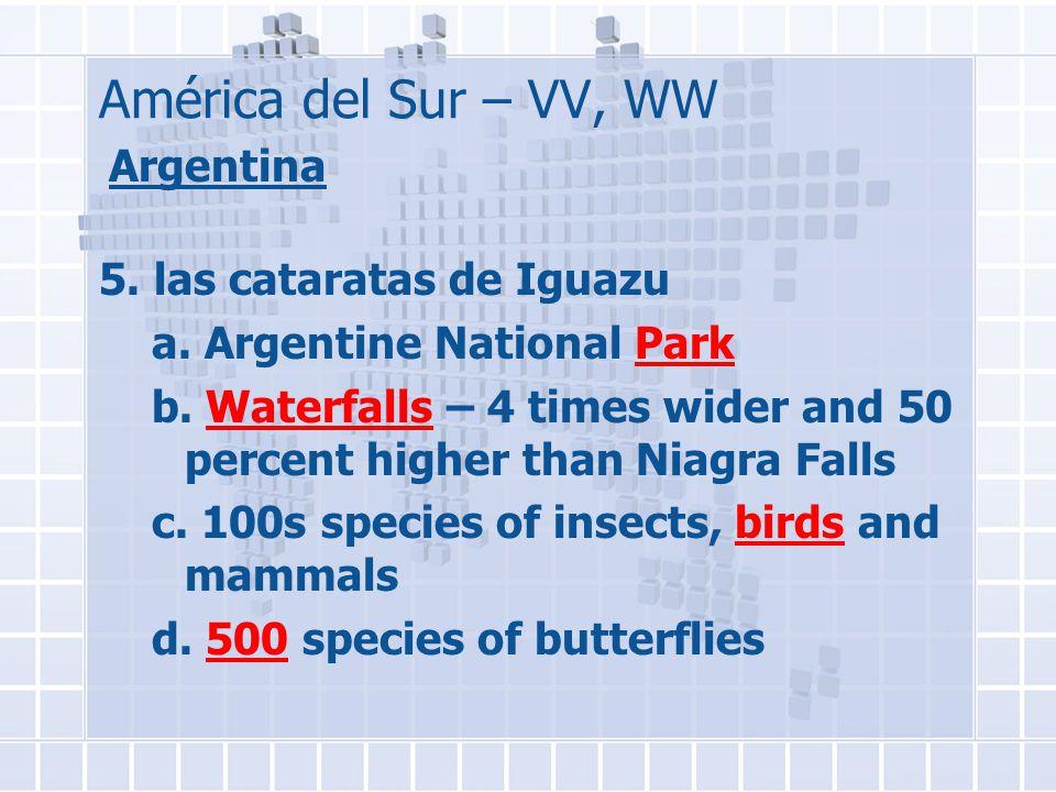 América del Sur – VV, WW Argentina 5. las cataratas de Iguazu a.