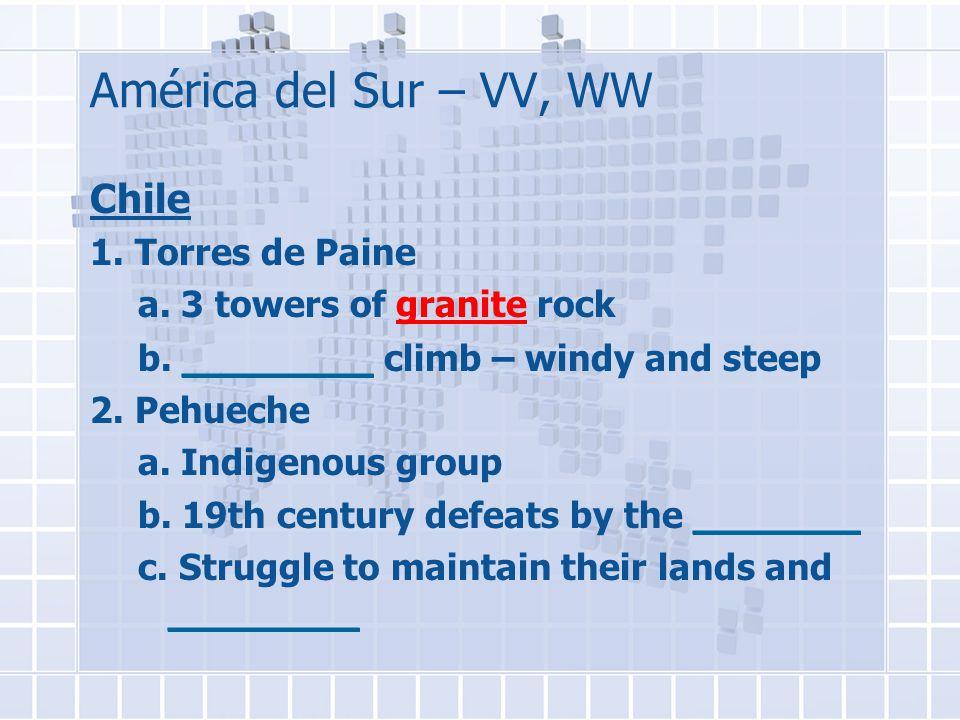 América del Sur – VV, WW Chile 1. Torres de Paine a.