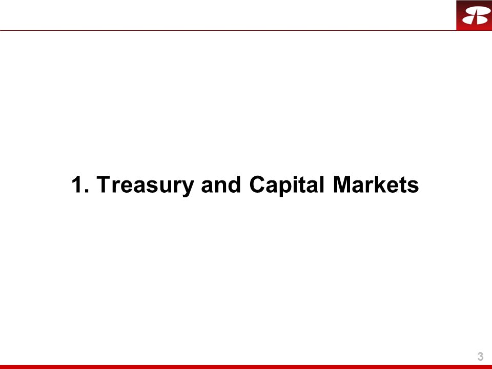 3 1. Treasury and Capital Markets