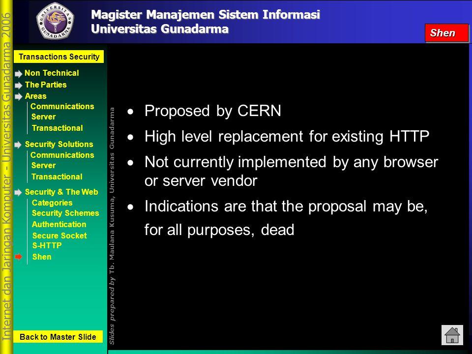 Magister Manajemen Sistem Informasi Transactions Security Non Technical Slides prepared by Tb.