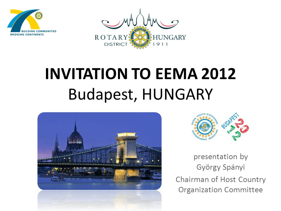 INVITATION TO EEMA 2012 Budapest, HUNGARY presentation by György Spányi Chairman of Host Country Organization Committee