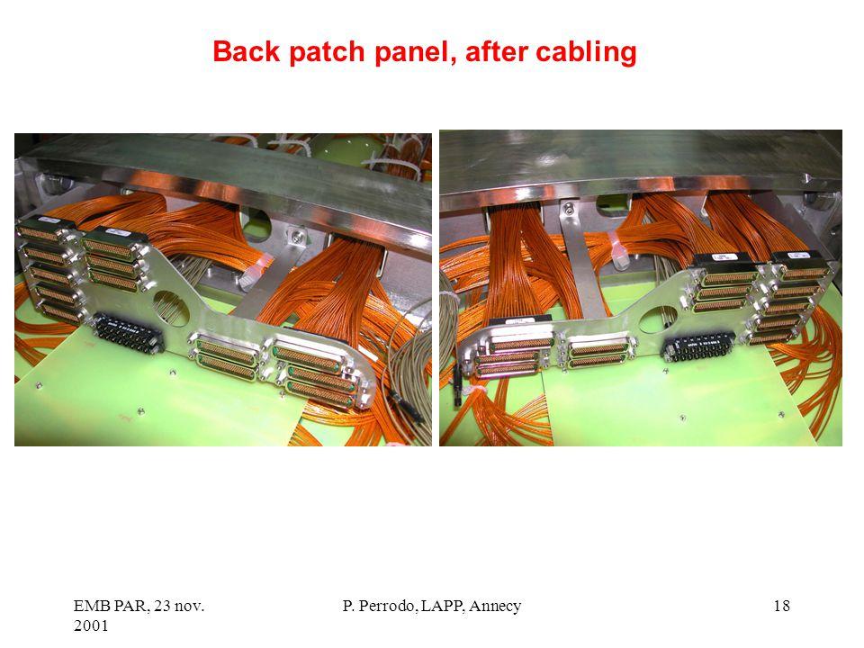 EMB PAR, 23 nov. 2001 P. Perrodo, LAPP, Annecy18 Back patch panel, after cabling