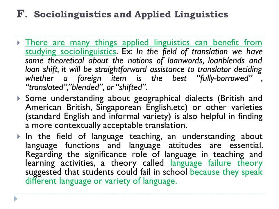 Dissertation Sociolinguistics