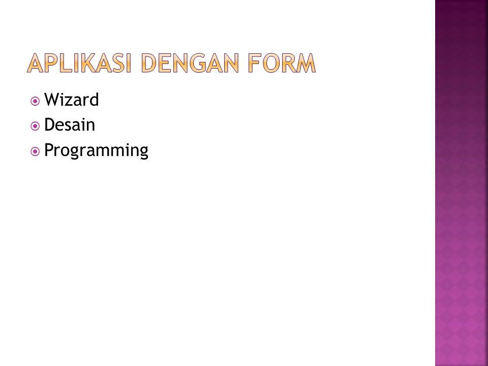 Wizard  Desain  Programming