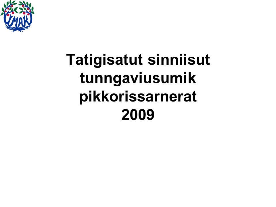 Tatigisatut sinniisut tunngaviusumik pikkorissarnerat 2009