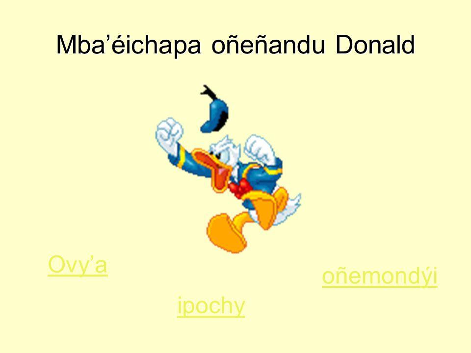 Mba'éichapa oñeñandu Donald Ovy'a ipochy oñemondýi