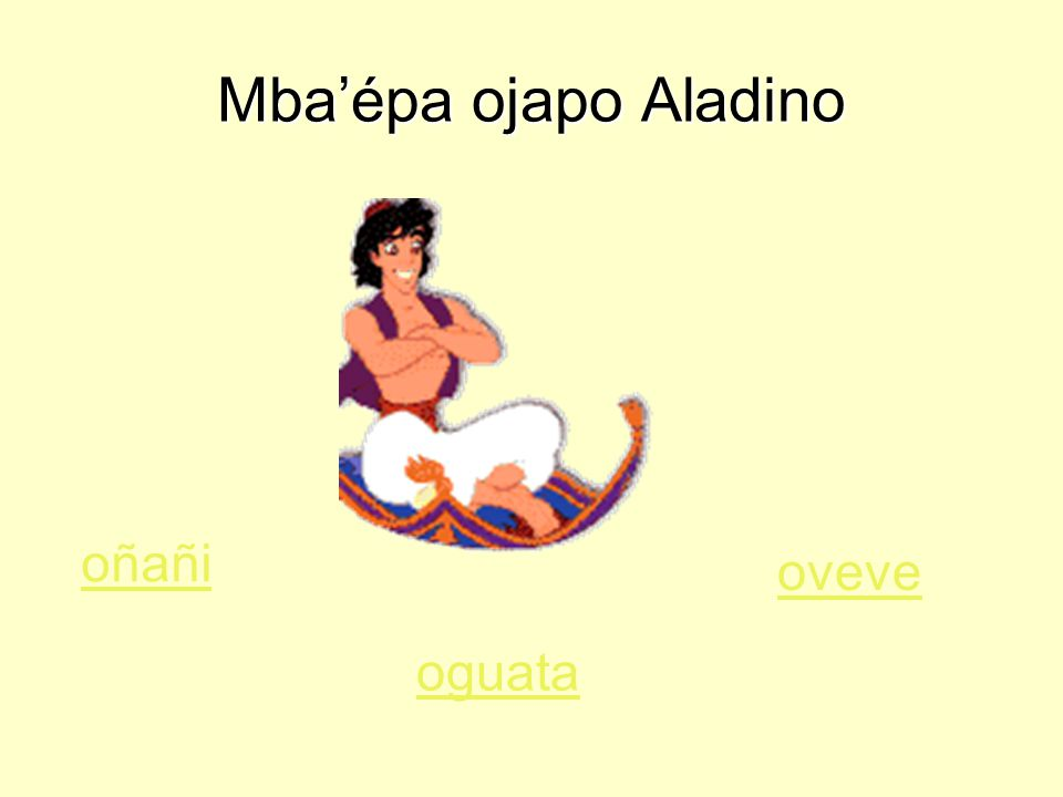 Mba'épa ojapo Aladino oñañi oguata oveve