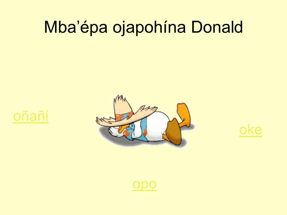 Mba'épa ojapohína Donald oñañi opo oke