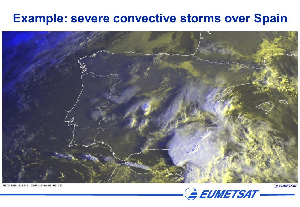 Example: severe convective storms over Spain