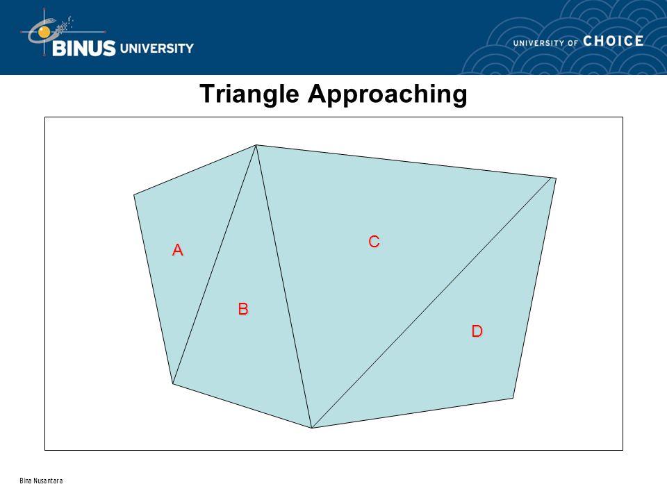 Bina Nusantara Triangle Approaching A B C D