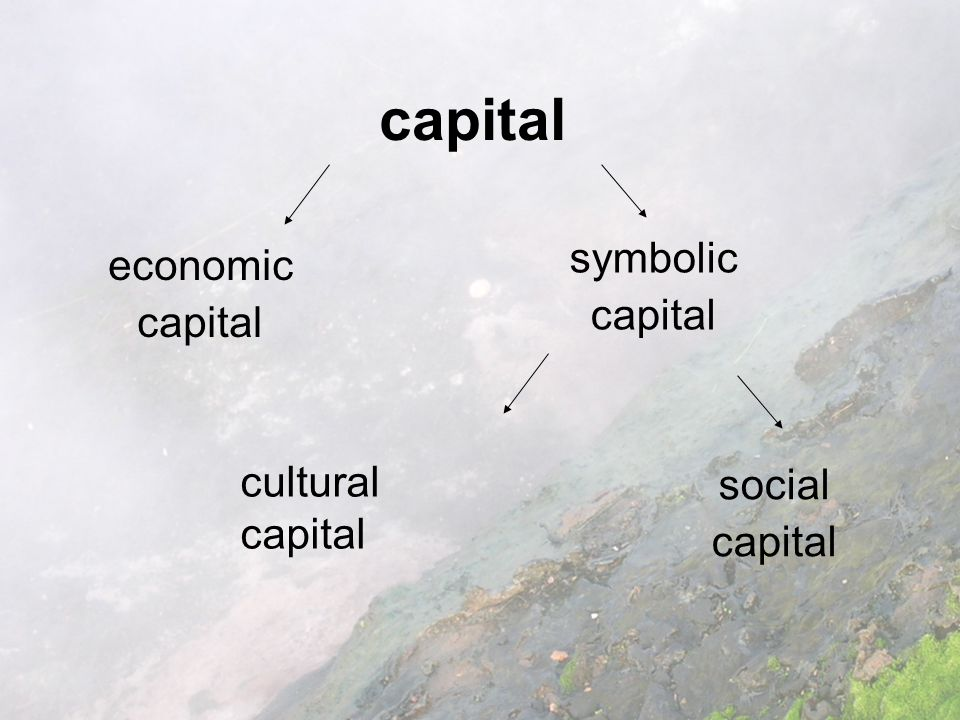 capital economic capital symbolic capital cultural capital social capital