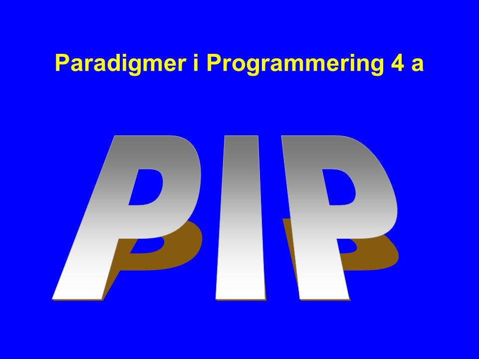 Paradigmer i Programmering 4 a