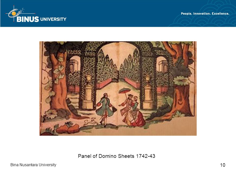 Bina Nusantara University 10 Panel of Domino Sheets 1742-43