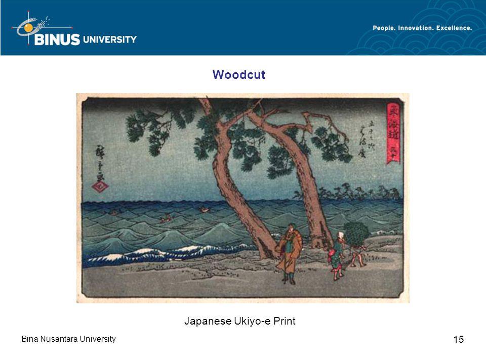 Bina Nusantara University 15 Japanese Ukiyo-e Print Woodcut