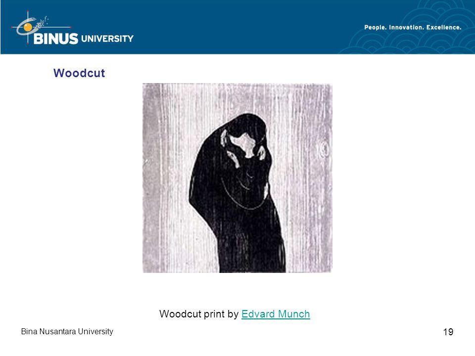 Bina Nusantara University 19 Woodcut print by Edvard MunchEdvard Munch Woodcut