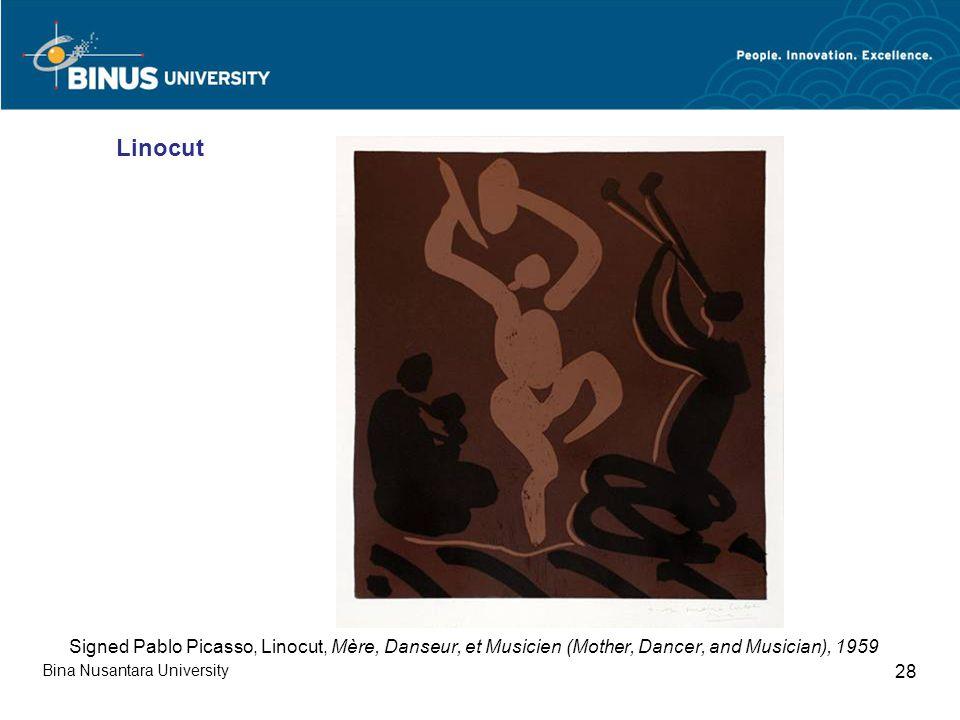 Bina Nusantara University 28 Linocut Signed Pablo Picasso, Linocut, Mère, Danseur, et Musicien (Mother, Dancer, and Musician), 1959