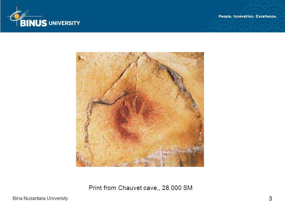 Bina Nusantara University 3 Print from Chauvet cave,, 28.000 SM