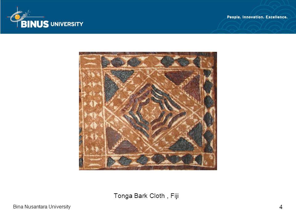 Bina Nusantara University 4 Tonga Bark Cloth, Fiji
