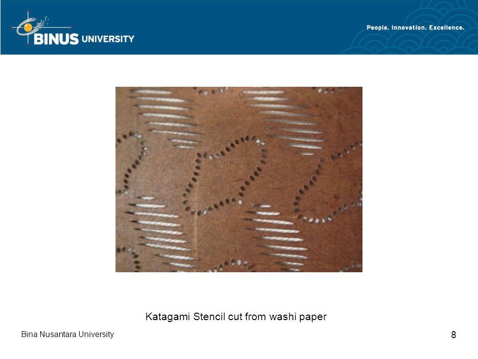 Bina Nusantara University 8 Katagami Stencil cut from washi paper