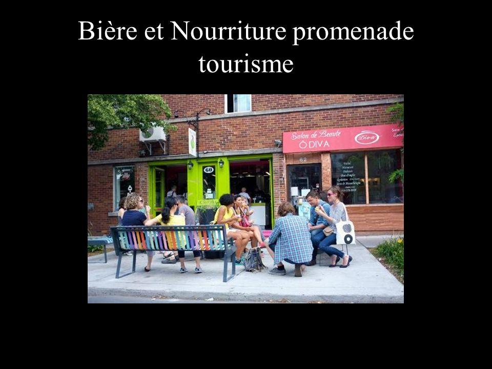 Bière et Nourriture promenade tourisme