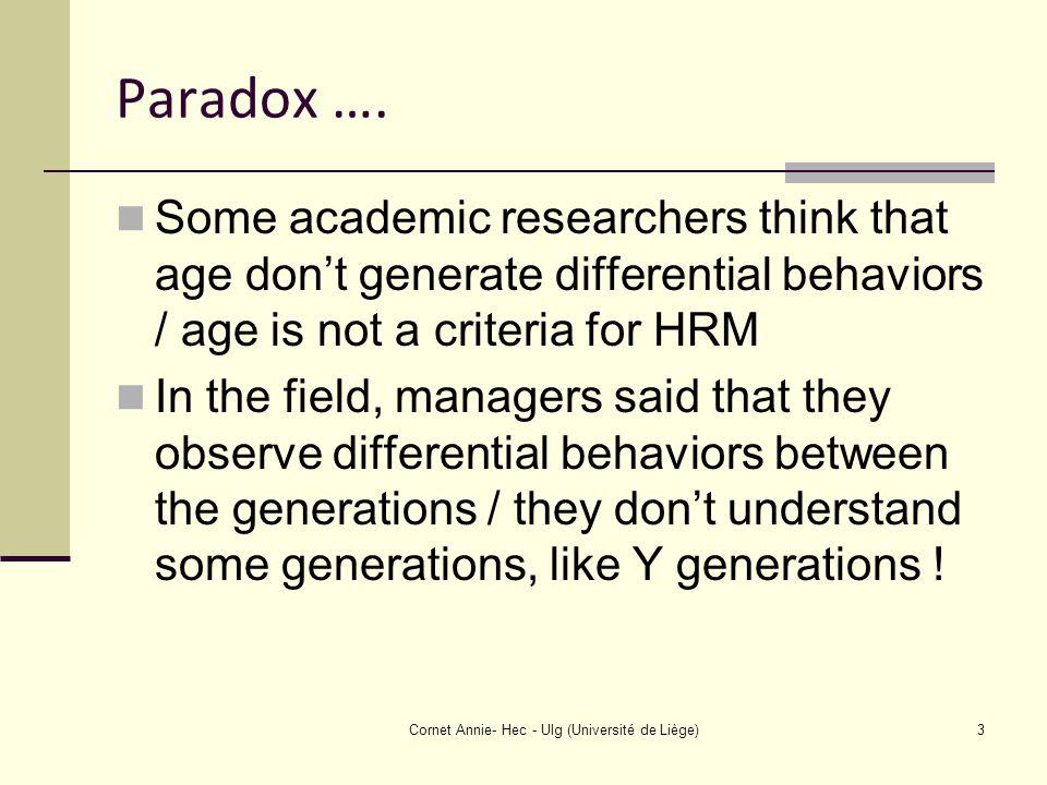 Paradox ….