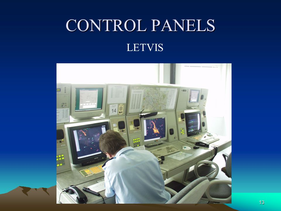CONTROL PANELS AIRPORT MONITORING SYSTEM 12