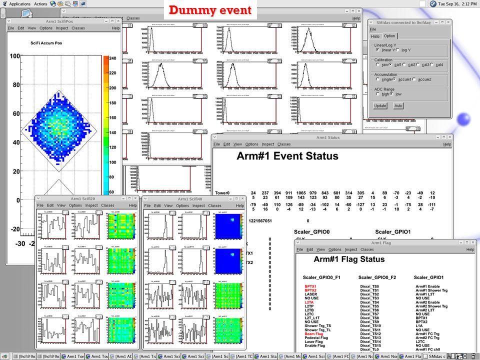 18 Settembre 2008CSN1 – Pisa O. Adriani Dummy event