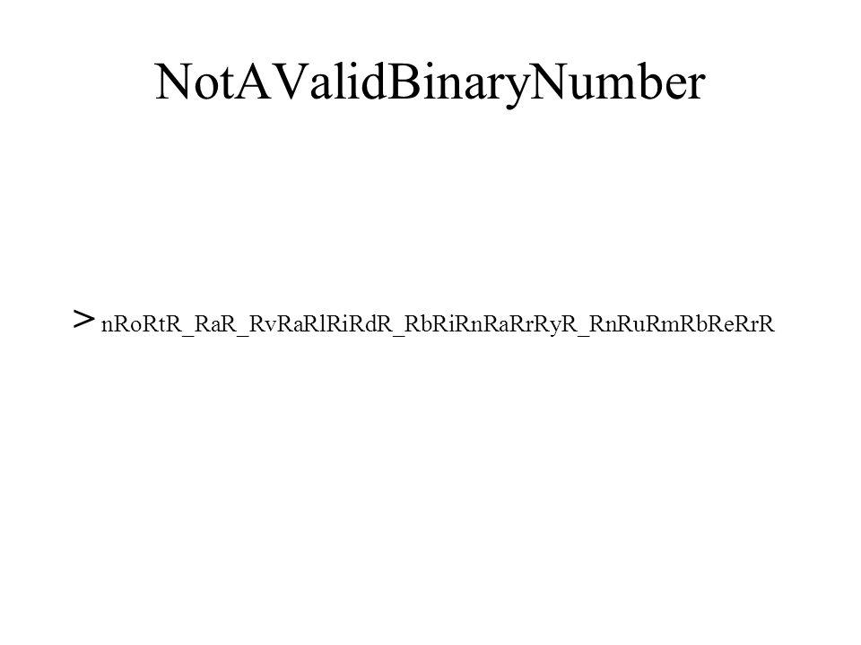 ParMatch? 0,1,+,*,( 0,1,+,*,) > L # R ) 0L ( 0 # BlankOutR # BlankOut J RN R