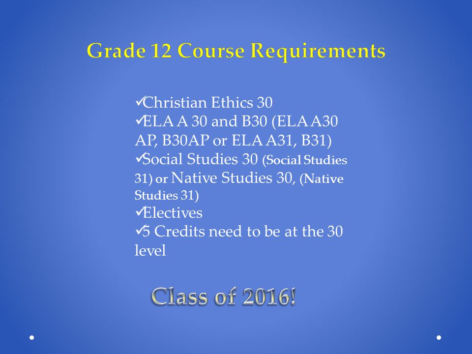Canadian Armed Forces Primary Reserve Co-op  Students earn 2 credits for completing:  Canadian Studies 30  Basic Military Training Requirements:  Students must be Canadian Citizens  Must be over 16 and have parent/guardian consent Some weekends for completion of field training requirement