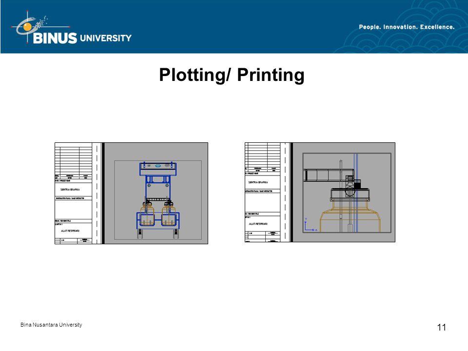 Bina Nusantara University 11 Plotting/ Printing