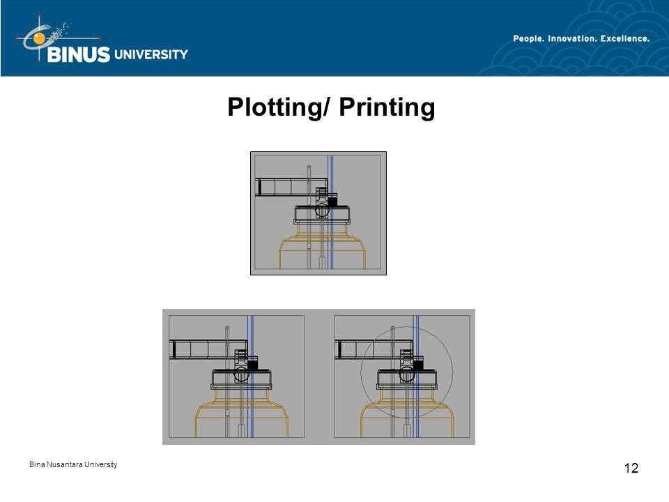 Bina Nusantara University 12 Plotting/ Printing