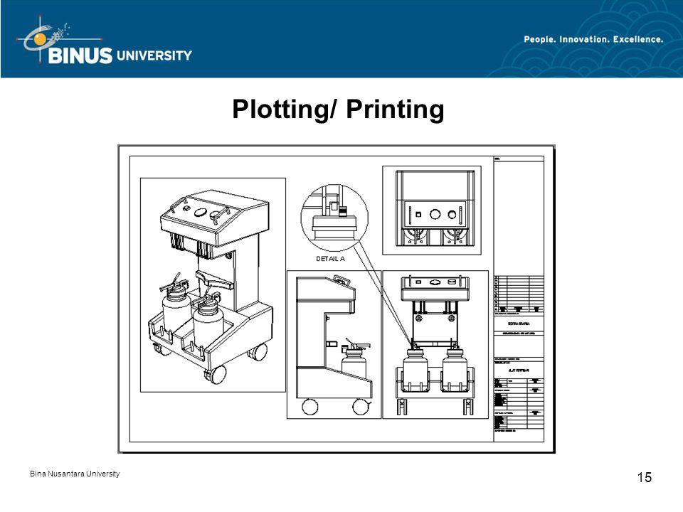 Bina Nusantara University 15 Plotting/ Printing