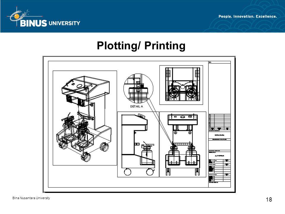 Bina Nusantara University 18 Plotting/ Printing