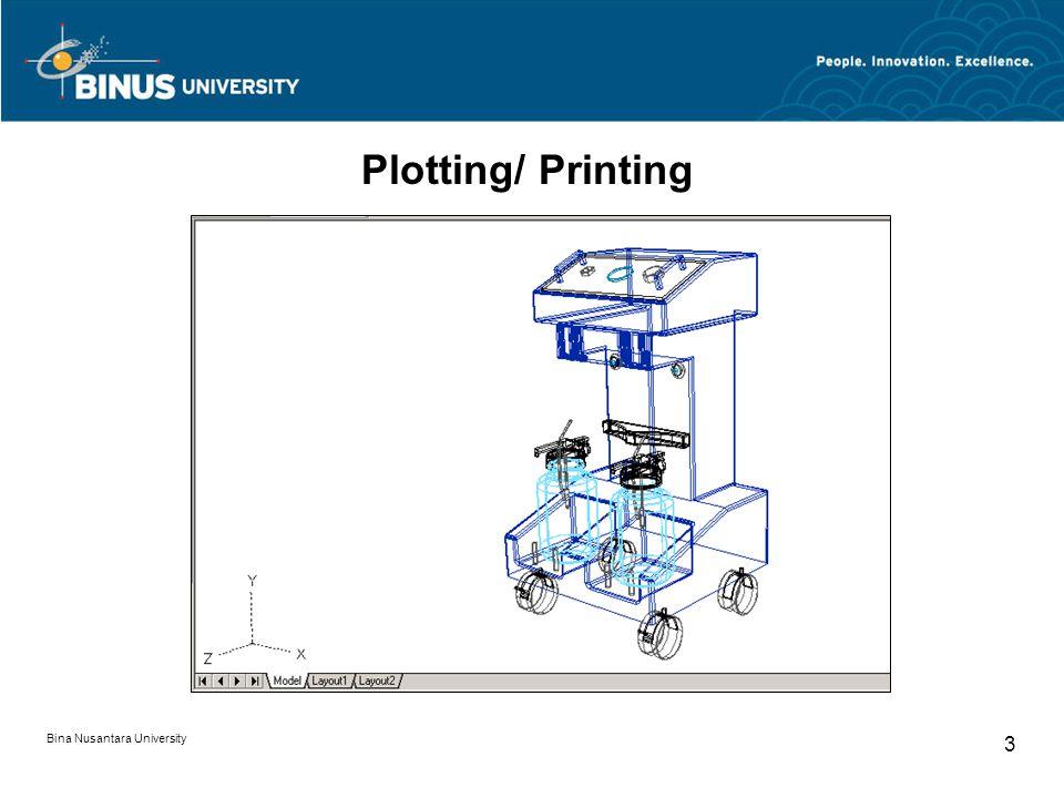 Bina Nusantara University 3 Plotting/ Printing