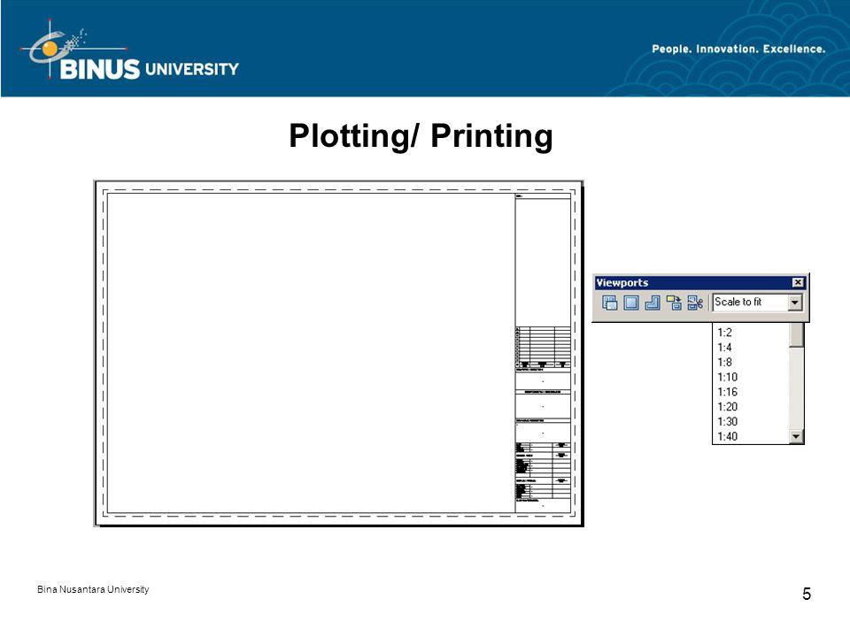 Bina Nusantara University 5 Plotting/ Printing