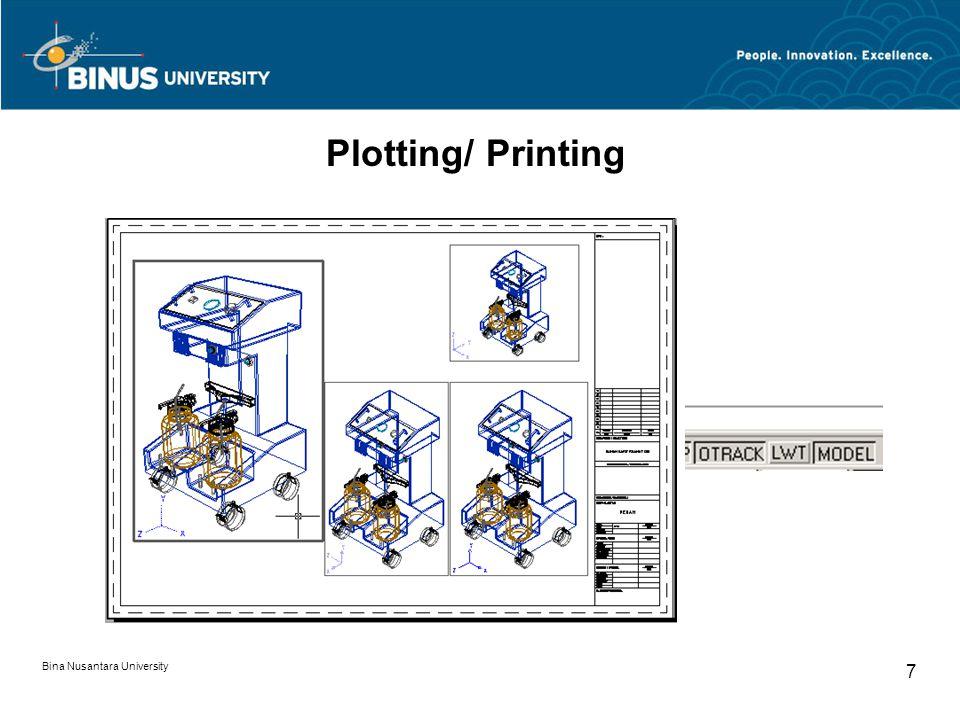 Bina Nusantara University 7 Plotting/ Printing